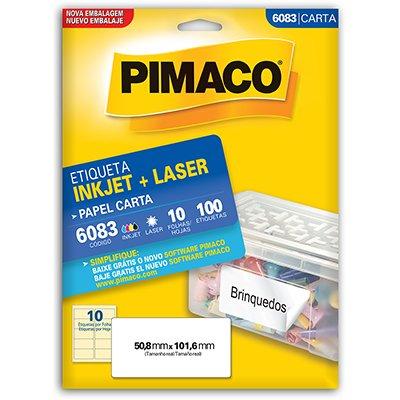 Etiqueta ink-jet/laser Carta 50,8x101,6 6083 Pimaco PT 100 UN