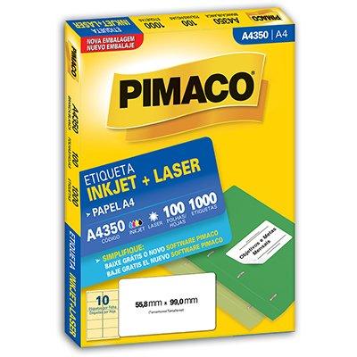 Etiqueta ink-jet/laser A4 55,9x99,0 350 Pimaco PT 1000 UN