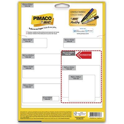 Etiqueta ink-jet/laser Carta 106,36x138,11 6288 Pimaco PT 100 UN