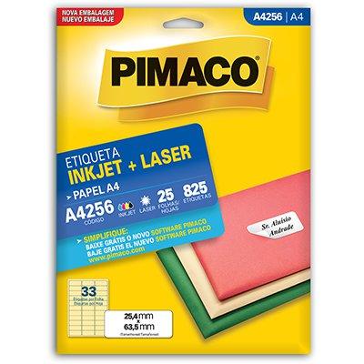 Etiqueta ink-jet/laser A4 25,4x63,5 256 Pimaco PT 825 UN