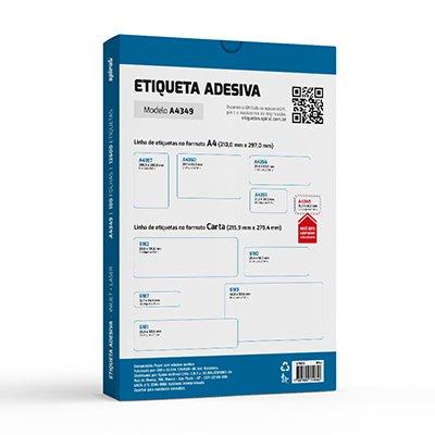 Etiqueta ink-jet/laser A4 15,0x26,0 349 Spiral PT 12600 UN