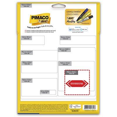 Etiqueta ink-jet/laser Carta 69,85x69,85 8296 Pimaco PT 225 UN
