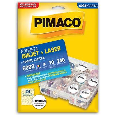 Etiqueta ink-jet/laser Carta 42,33 6093 Pimaco PT 240 UN