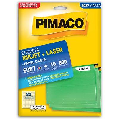 Etiqueta ink-jet/laser Carta 12,7x44,4 6087 Pimaco PT 800 UN