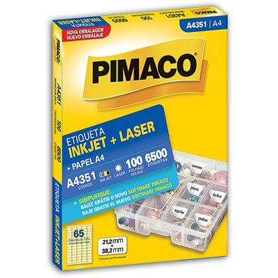 Etiqueta ink-jet/laser A4 21,2x38,2 351 Pimaco PT 6500 UN