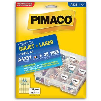 Etiqueta ink-jet/laser A4 21,2x38,2 251 Pimaco PT 1625 UN