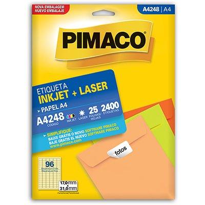 Etiqueta ink-jet/laser A4 17x31 248 Pimaco PT 2400 UN
