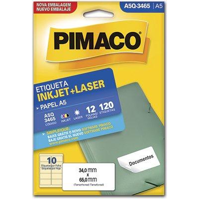 Etiqueta ink-jet/laser A5 34,0x65,0 multiuso Q-3465 Pimaco PT 120 UN