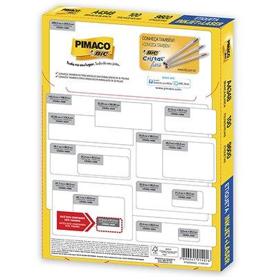 Etiqueta ink-jet/laser A4 17,0x31,0 348 Pimaco PT 9600 UN