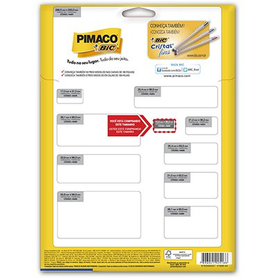 Etiqueta ink-jet/laser A4 15x26 249 Pimaco PT 3150 UN