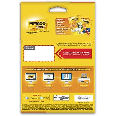 Etiqueta ink-jet/laser A5 34,0x65,0 p/freezer 901080 Pimaco PT 120 UN