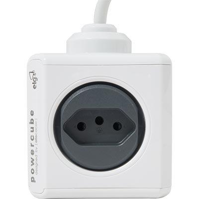 Filtro de linha 4 tomadas 10A bivolt 2 usb 1,5m PowerCube Elg CX 1 UN