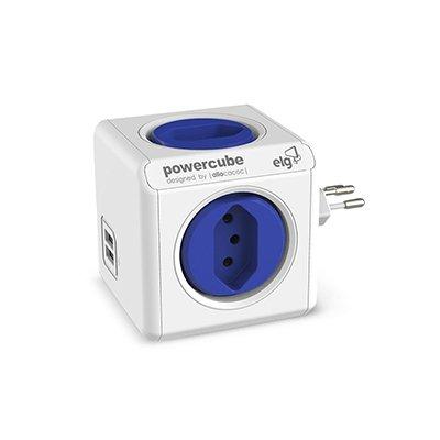 Filtro de linha 4 tomadas 10A bivolt 2 usb PowerCube Elg CX 1 UN