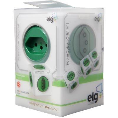 Filtro de linha 5 tomadas 10A bivolt PowerCube Elg CX 1 UN
