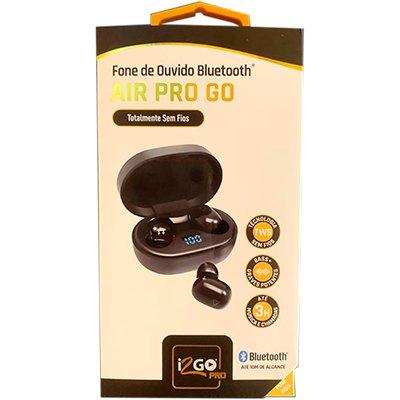 Fone de ouvido Bluetooth c/ microfone intra pt PROEAR010 I2Go CX 1 UN