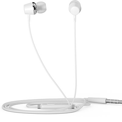 Fone de ouvido Intra Auricular com microfone branco DHE-7000 HP - 8YJ87AA CX 1 UN