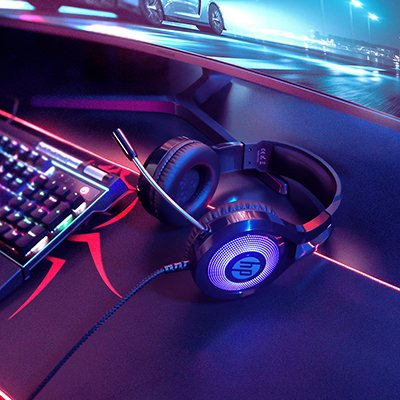 Headset Gamer P2 com USB blue light DHE-8010, 194Q8AA, HP - CX 1 UN