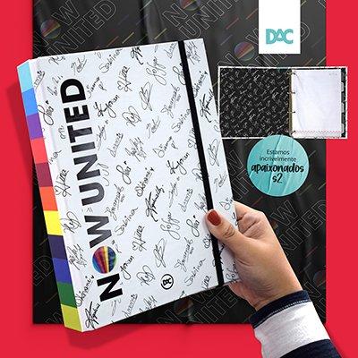 Fichário Colegial com 48 folhas Now United 4 argolas  - 3216 DAC PT 1 UN
