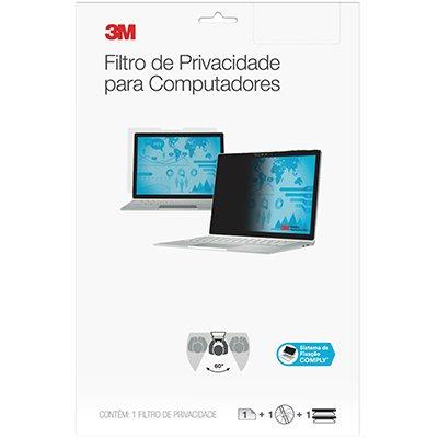 """Filtro de privacidade p/notebook ou monitor 14"""" W 3M BT 1 UN"""