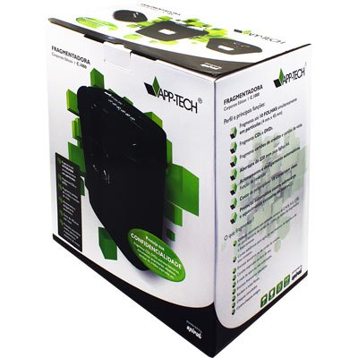 Fragmentadora de papel 10fls em partíc.cd cartão C1000 App-tech CX 1 UN