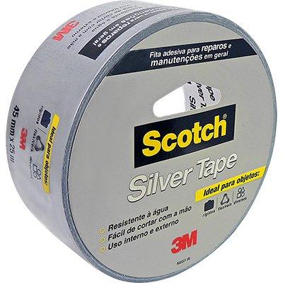 Fita adesiva multiuso 45mmx25m silver tape Scotch 3M UN 1 UN