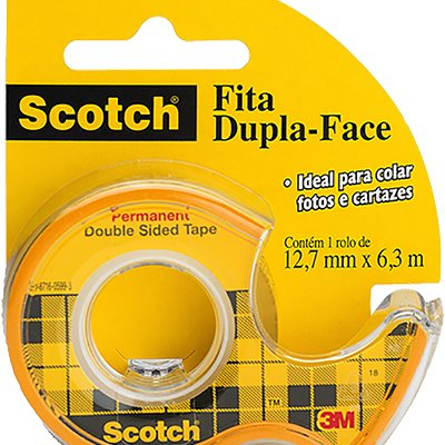 Fita Dupla-Face Scotch® - 12,7 mm x 6,35 m - Com Suporte BT 1 UN