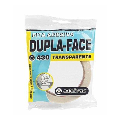 Fita adesiva dupla face pp 12mmx30m c/adesivo acrílico Adelbras PT 1 UN