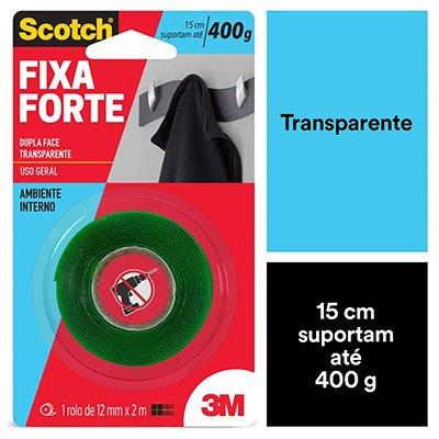 Fita adesiva dupla face Fixa Forte 12mmx2m Scotch 3M BT 1 UN