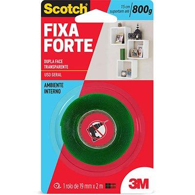 Fita adesiva dupla face Fixa Forte 19mmx2m Scotch 3M BT 1 UN
