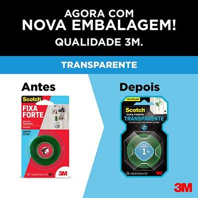 Fita adesiva dupla face Fixa Forte 24mmx2m Scotch 3M BT 1 UN
