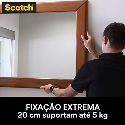 Fita adesiva dupla face Fixa Forte Extrema 24mmx2m Scotch 3M BT 1 UN