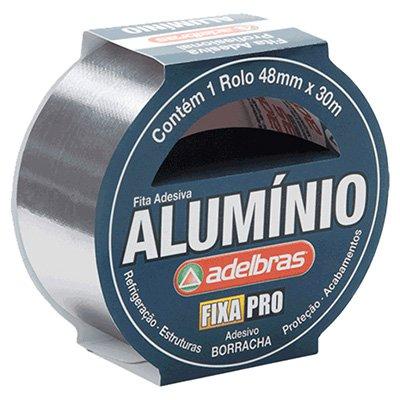 Fita adesiva alumínio 48mmx30m Adelbras BT 1 UN