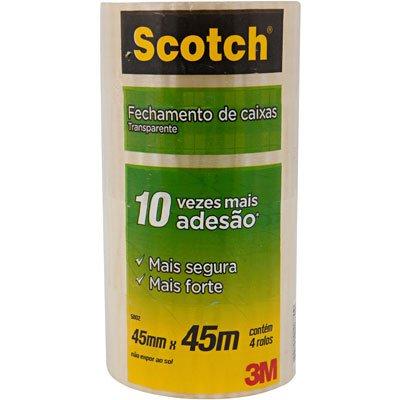 Fita adesiva pp 45mmx45m transparente Scotch 5802 3M PT 4 UN