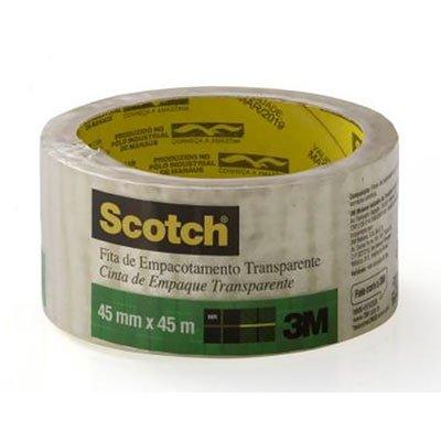 Fita adesiva pp 45mmx45m transparente Scotch 3M PT 1 UN