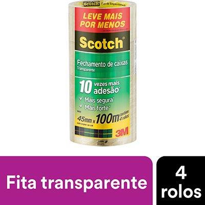 Fita adesiva pp 45mmx100m transparente scotch 5802 3M CX 4 RL