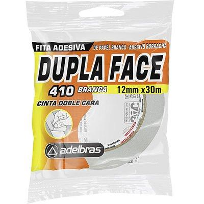 Fita adesiva dupla face papel 12mmx30m . Adelbras PT 1 UN