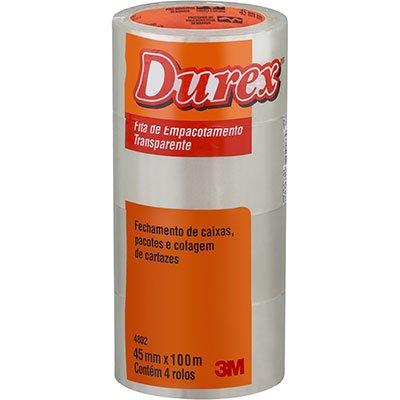 Fita adesiva pp 45mmx100m transparente Durex 3M PT 4 UN