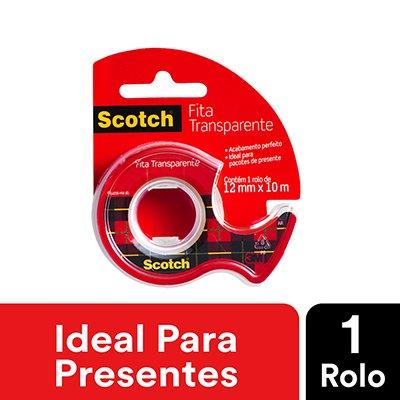 Fita adesiva pp 12mmx10m c/aplicador Scotch 3M BT 1 UN