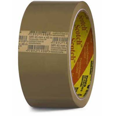 Fita adesiva marrom polipropileno 45mmx45m 5802 3M PT 4 UN