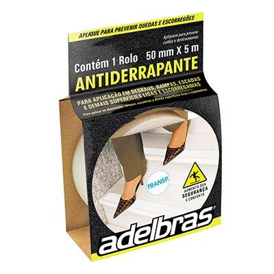 Fita adesiva anti-derrapante 50mmx5m pvc transparente Adelbras BT 1 UN