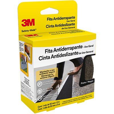 Fita adesiva anti-derrapante 50mmx5m preta Safety Walk 3M PT 1 UN