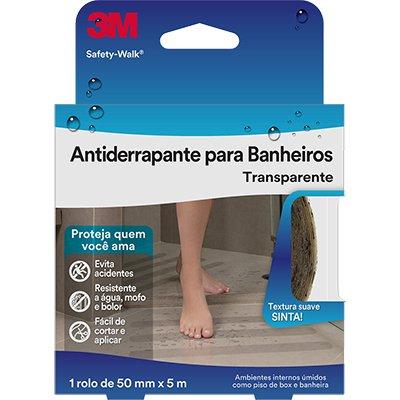 Fita adesiva anti-derrapante 50mmx5m banheiro Safety Walk 3M BT 1 UN
