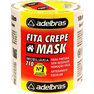 Fita crepe 18mmx50m mask 710 615-5 Adelbras PT 6 UN
