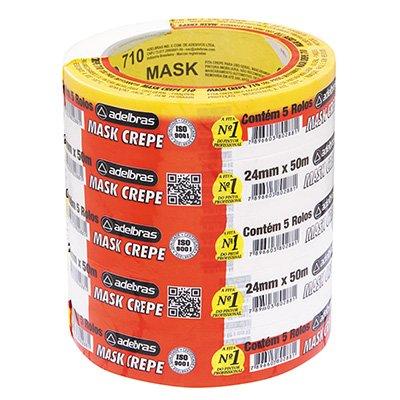 Fita crepe 24mmx50m Mask 710 Adelbras PT 5 UN