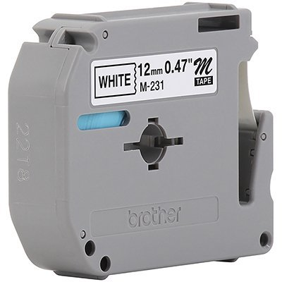 Fita para rotulador Brother M231 branca escrita preta plástica Brother BT 1 UN