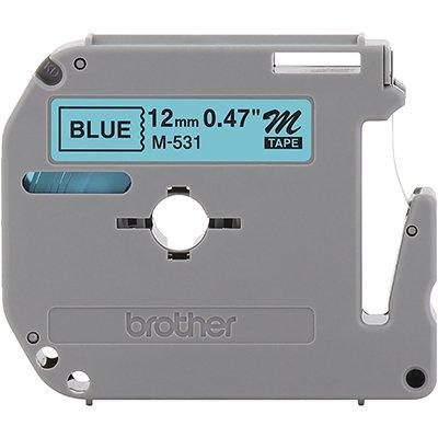 Fita para rotulador Brother M531 azul escrita preta plástica Brother BT 1 UN