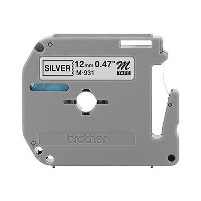 Fita para rotulador Brother M931 prata escrita preta plástica Brother BT 1 UN