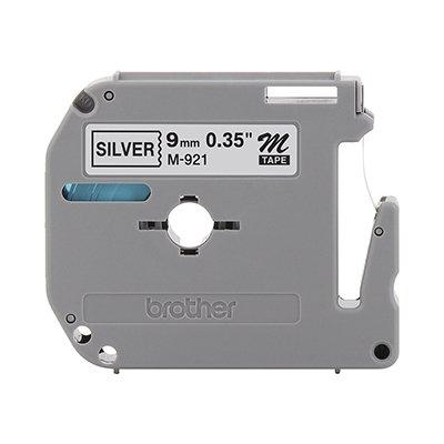 Fita para rotulador Brother M921 prata escrita preta plástica Brother BT 1 UN