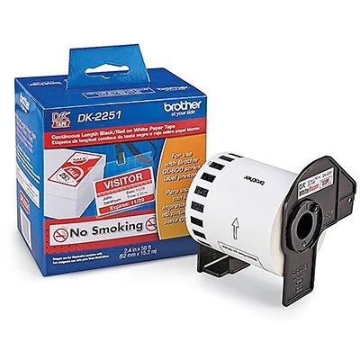 Etiqueta p/impressora térmica 62mmx15,2m pt/vm DK2251 Brother CX 1 UN