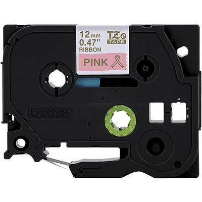 Fita para rotulador Brother TZe-RE34 pink escrita ouro cetim Brother CX 1 UN